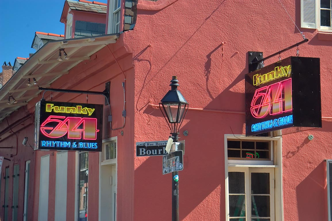 Funky 544 Rhythm and Blues Cafe at a corner of...French Quarter. New Orleans, Louisiana