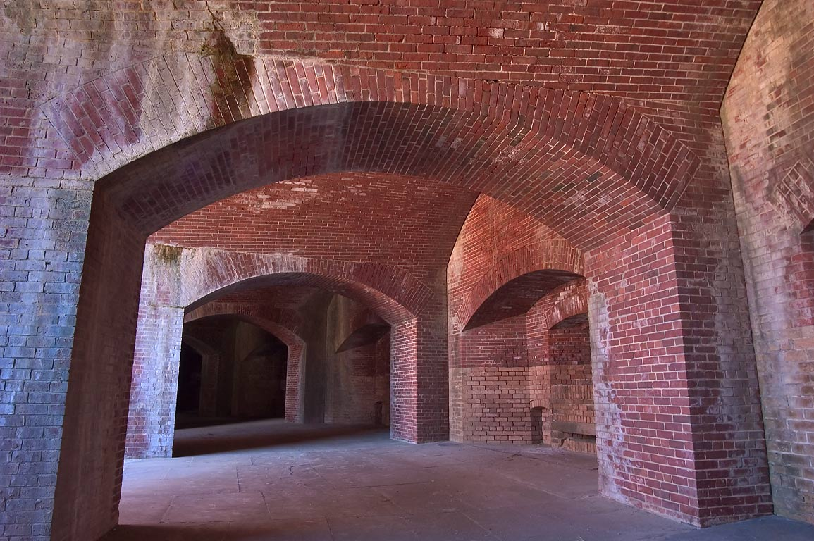 Casemates for cannons of Fort Massachusetts in Ship Island. Mississippi