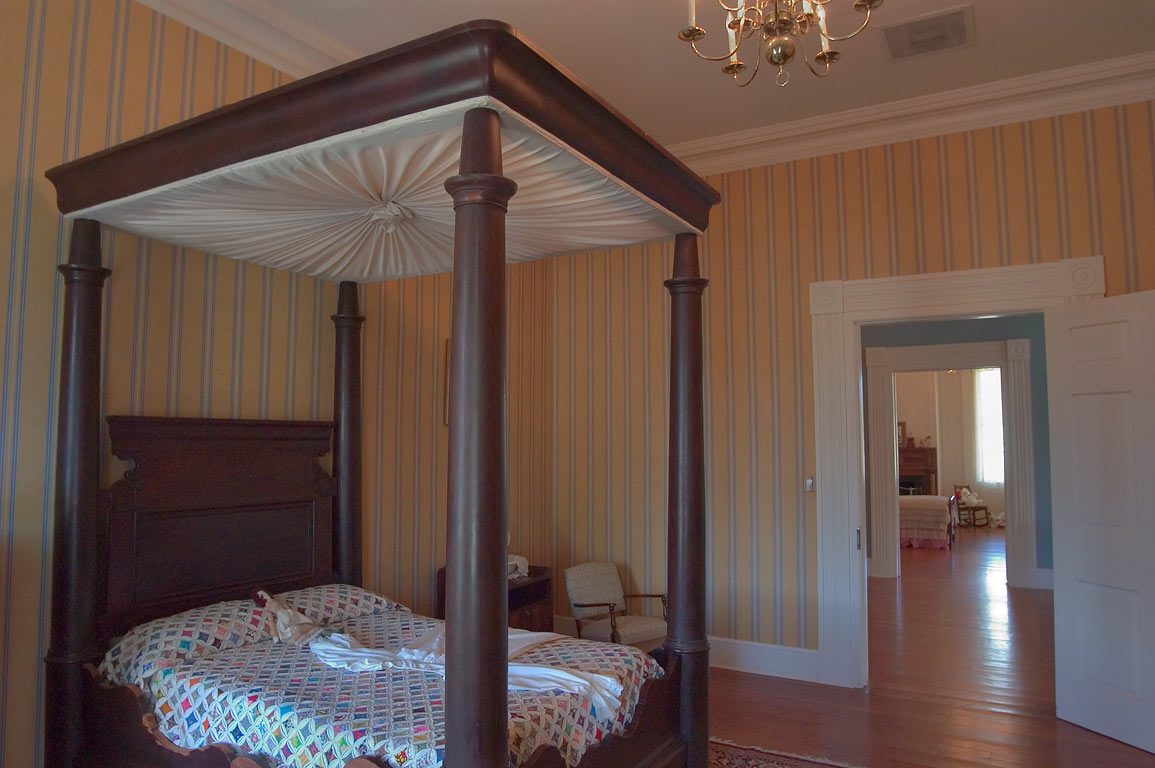 A bedroom in Greenwood Plantation. St.Francisville, Louisiana
