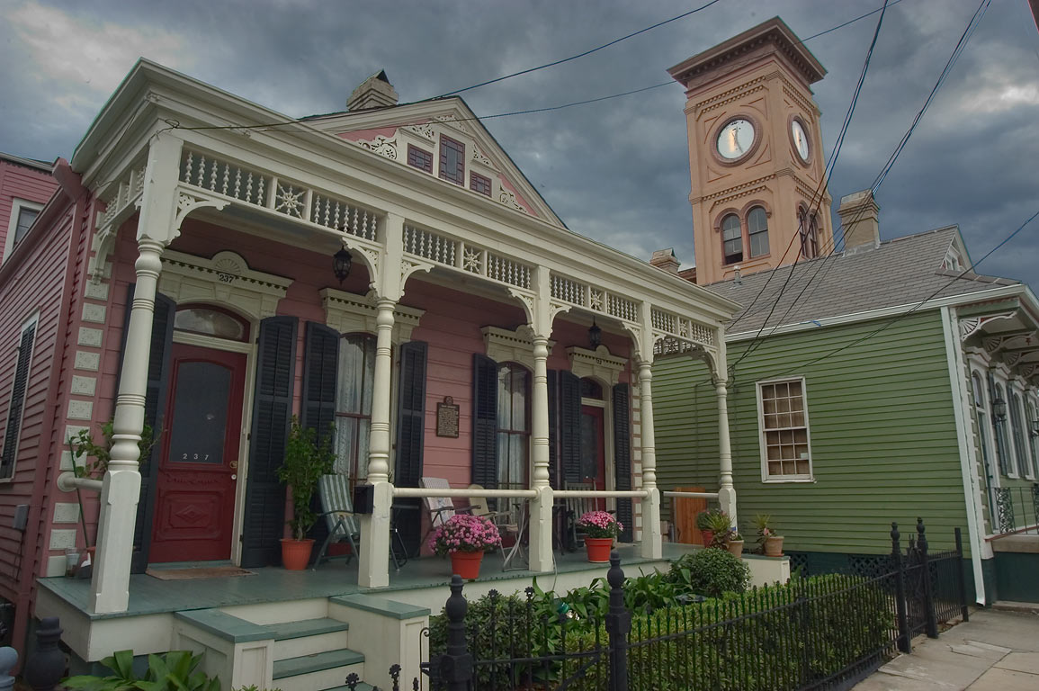 Hardy Residence at 233 Morgan St. near Bermuda St...Algiers Point. New Orleans, Louisiana