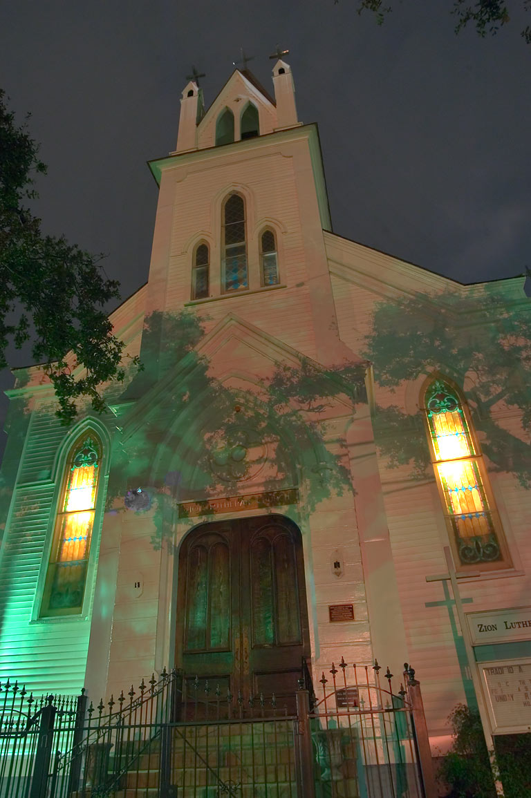 Zion Lutheran Church (1847) at 1924 St.Charles...District. New Orleans, Louisiana