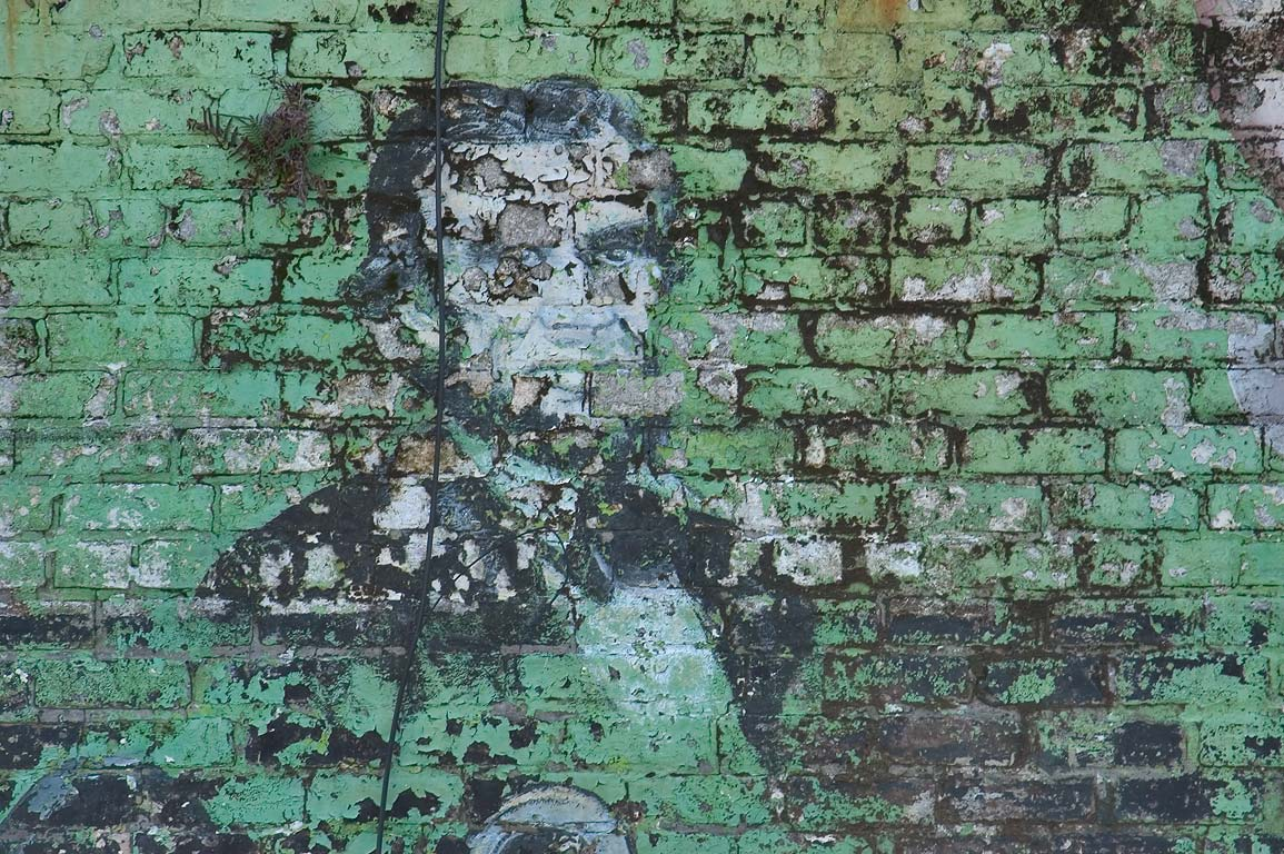 A portrait of Abraham Lincoln on murals of...Tulane Ave.. New Orleans, Louisiana