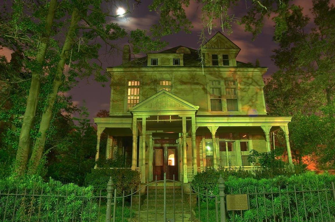 Grant-Black House at 3932 St.Charles Ave., corner...St. at evening. New Orleans, Louisiana