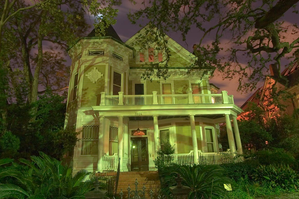 George F. Lapeyre House (1892) at 3924 St.Charles...at evening. New Orleans, Louisiana
