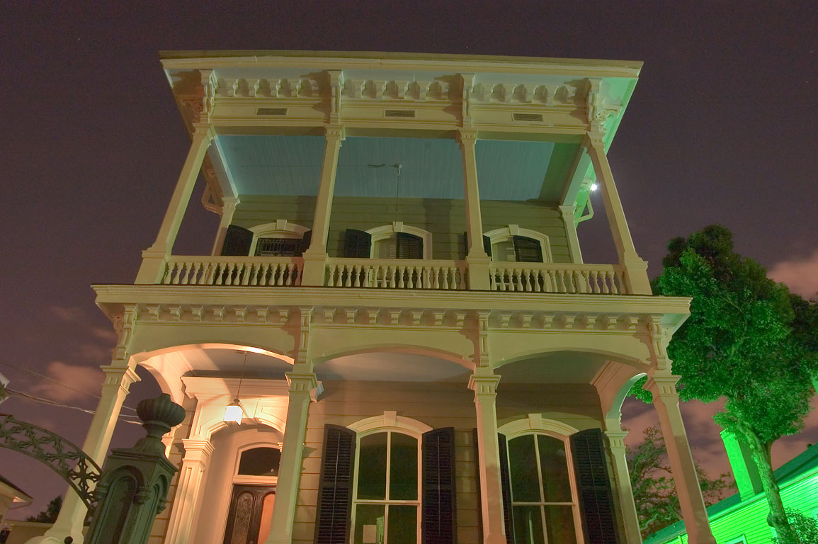 A double gallery house at 2328 St.Charles Ave. in...at evening. New Orleans, Louisiana
