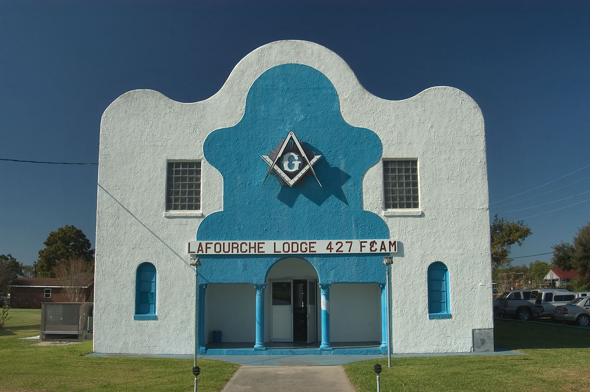 Lafourche masonic Lodge 427 F and AM at 16542...Cut Off. Lafourche Parish, Louisiana