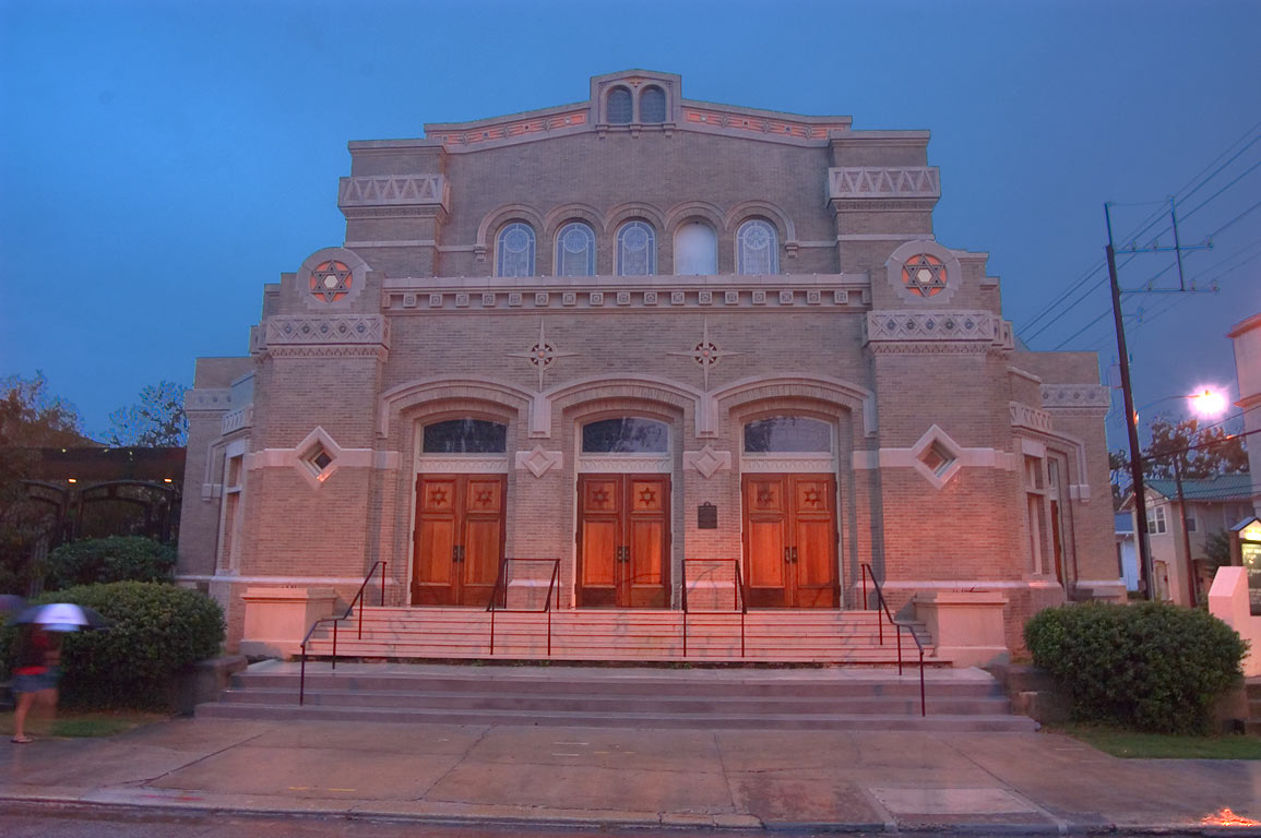Touro Synagogue (1908) at 4238 St.Charles Ave.. New Orleans, Louisiana