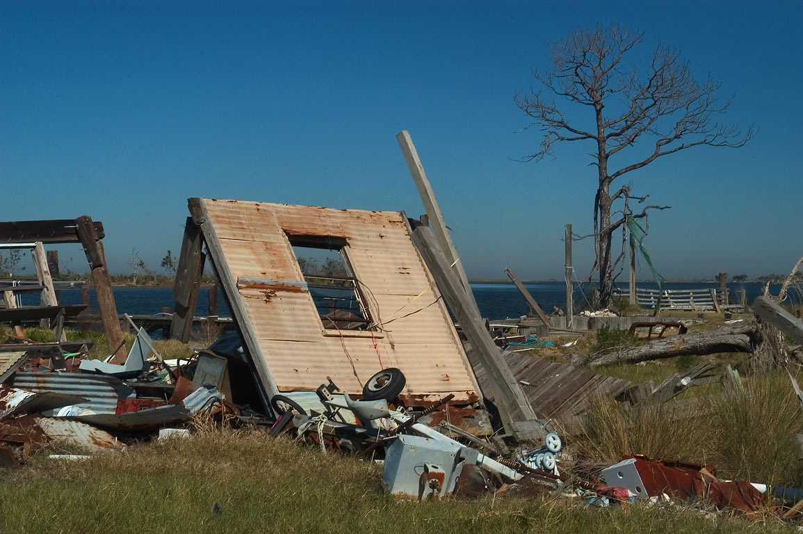 Remains of a fishing village near Fort Pike near...Eastern New Orleans, Louisiana