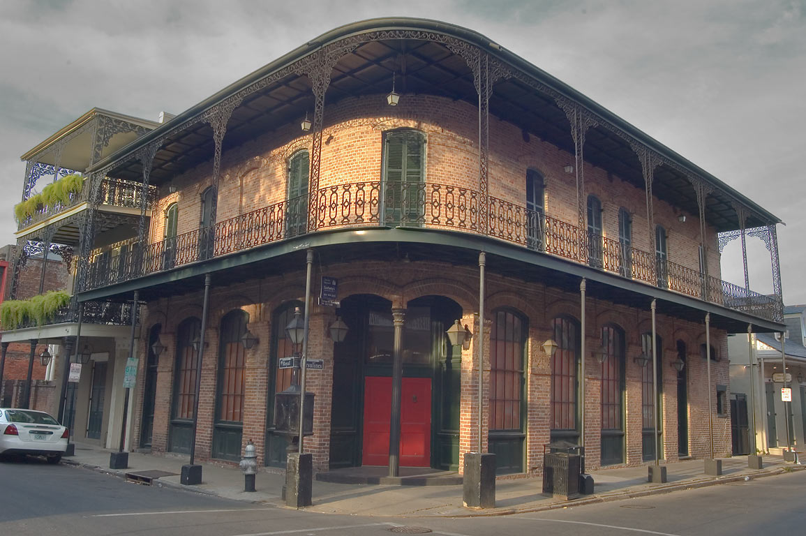 A corner of Royal and Ursulines streets in French Quarter. New Orleans, Louisiana