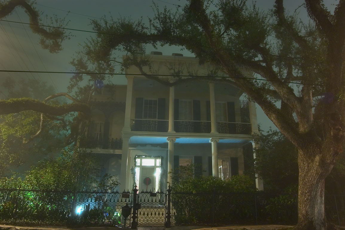 Rosegate-Anne Rice House at the corner of First...in fog. New Orleans, Louisiana