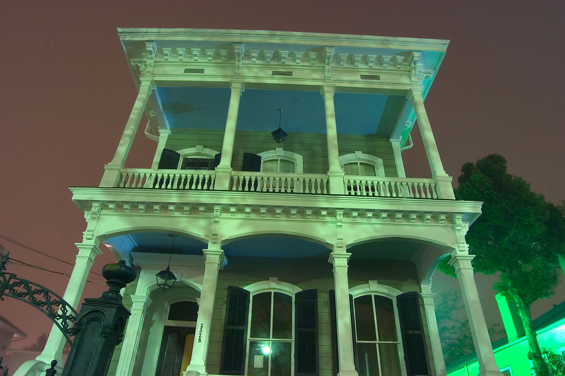 A house at 2328 St.Charles Ave. near Second St. in Garden District. New Orleans, Louisiana