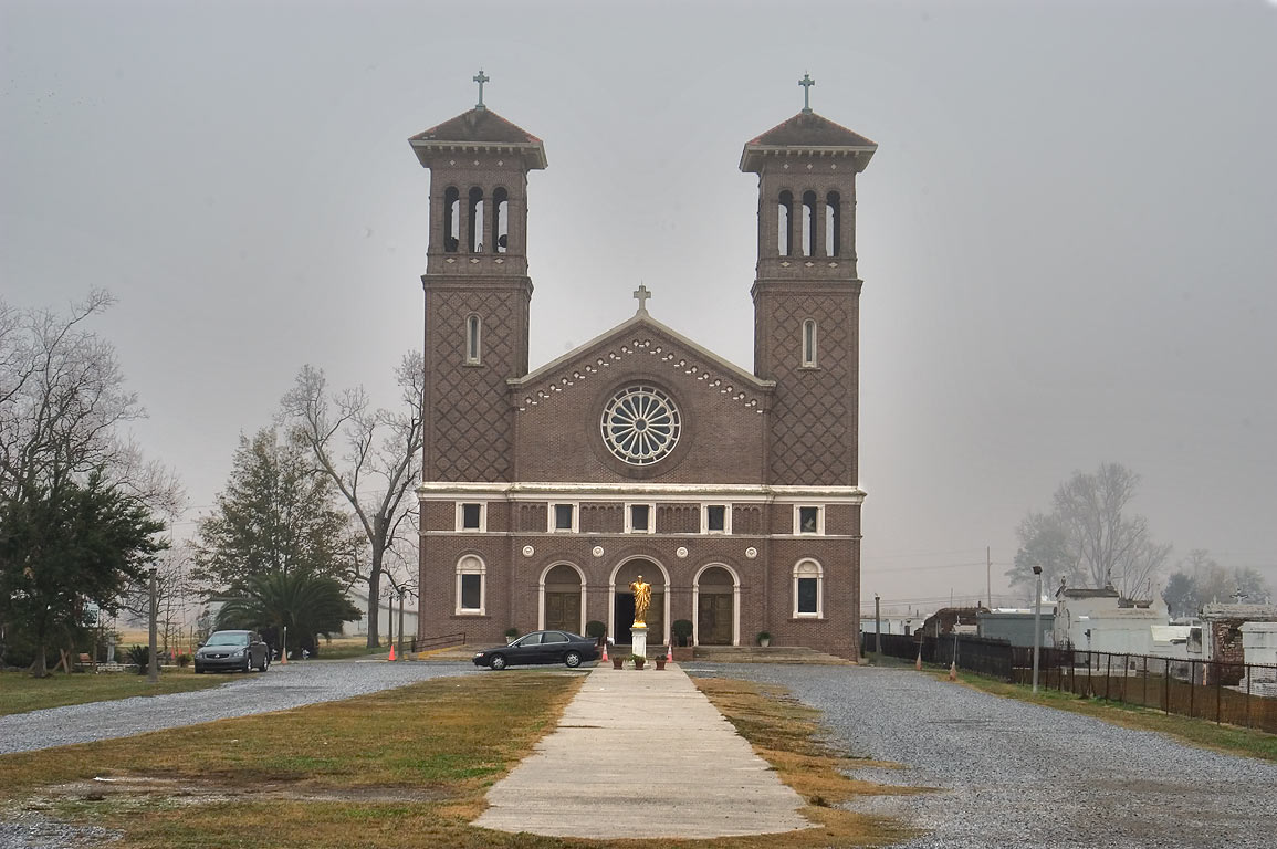 St.John the Baptist Catholic Church near Old River Rd.. Edgard, Louisiana