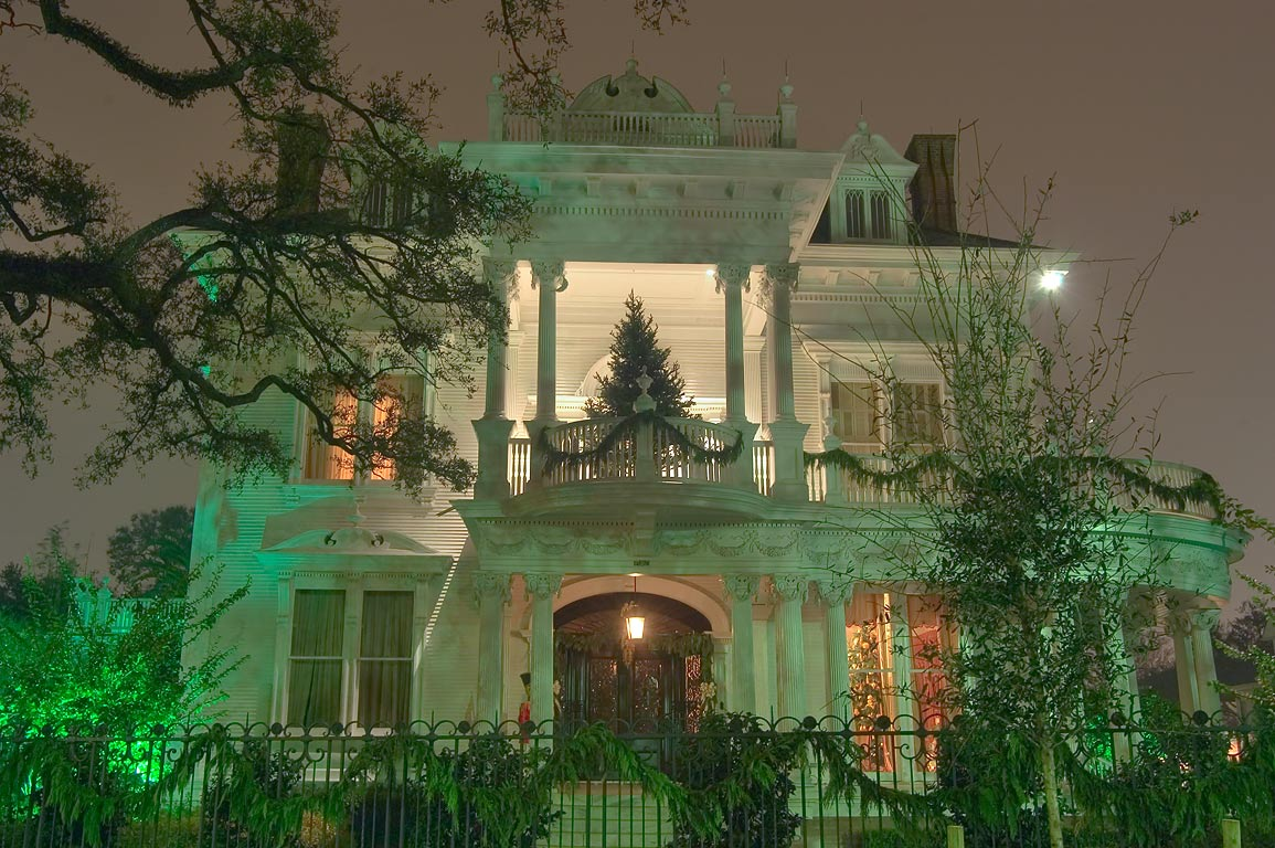 "Wedding Cake"" house on St.Charles Ave. at early morning. New Orleans, Louisiana"