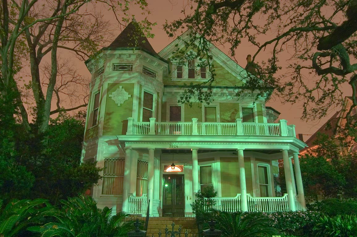 George F. Lapeyre House (1892) at 3924 St.Charles...early morning. New Orleans, Louisiana