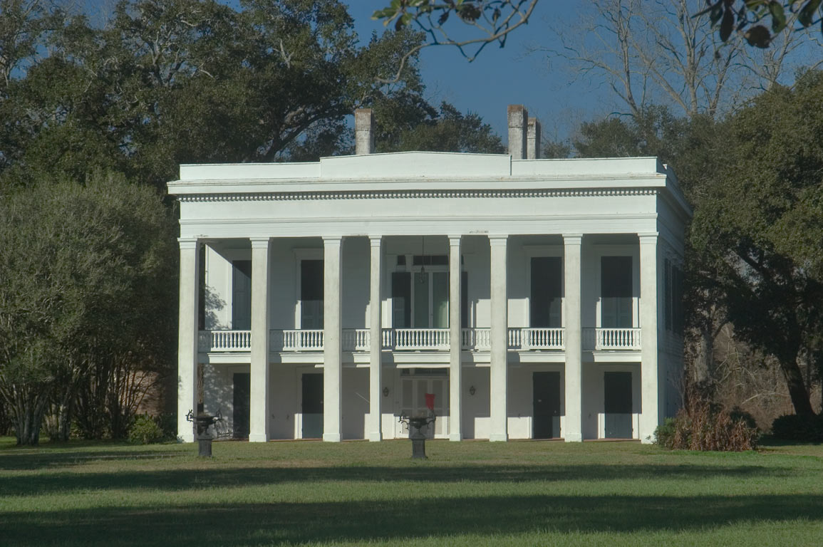 Bocage Plantation, view from River Rd.. Darrow, Louisiana