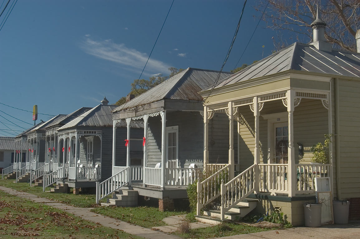 "Giambrone ""Row"" houses at 606-622 Lessard St.. Donaldsonville, Louisiana"