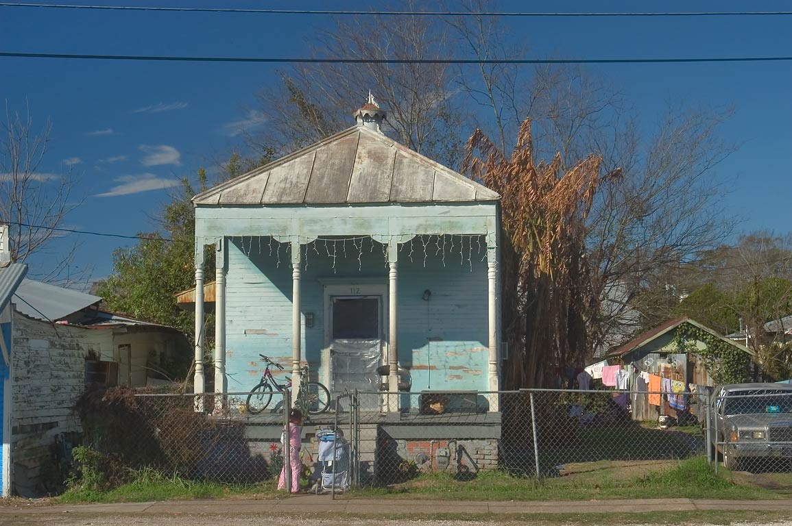 A shotgun house at 112 Lessard St. near Williams St.. Donaldsonville, Louisiana