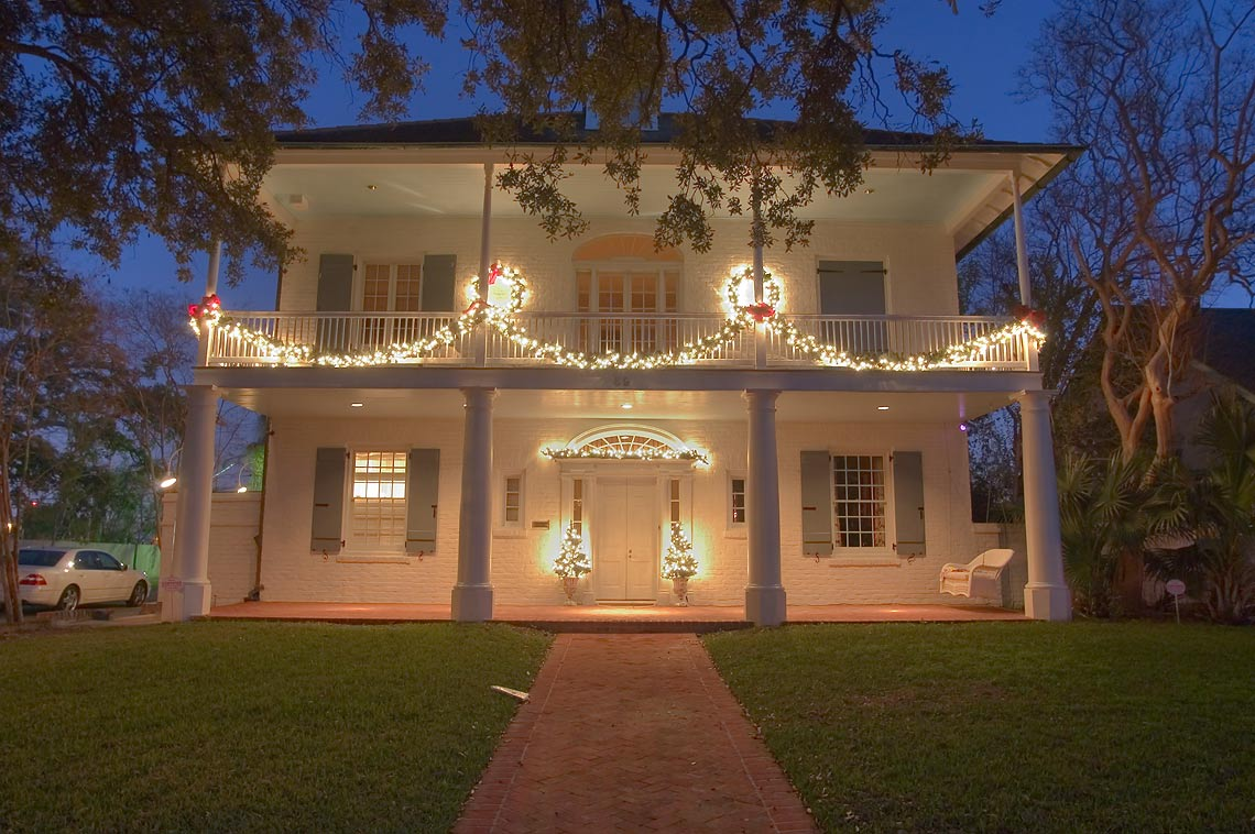 Henry Bartlett-Price-Davidson-Burka-Byrd House...St. at evening. New Orleans, Louisiana