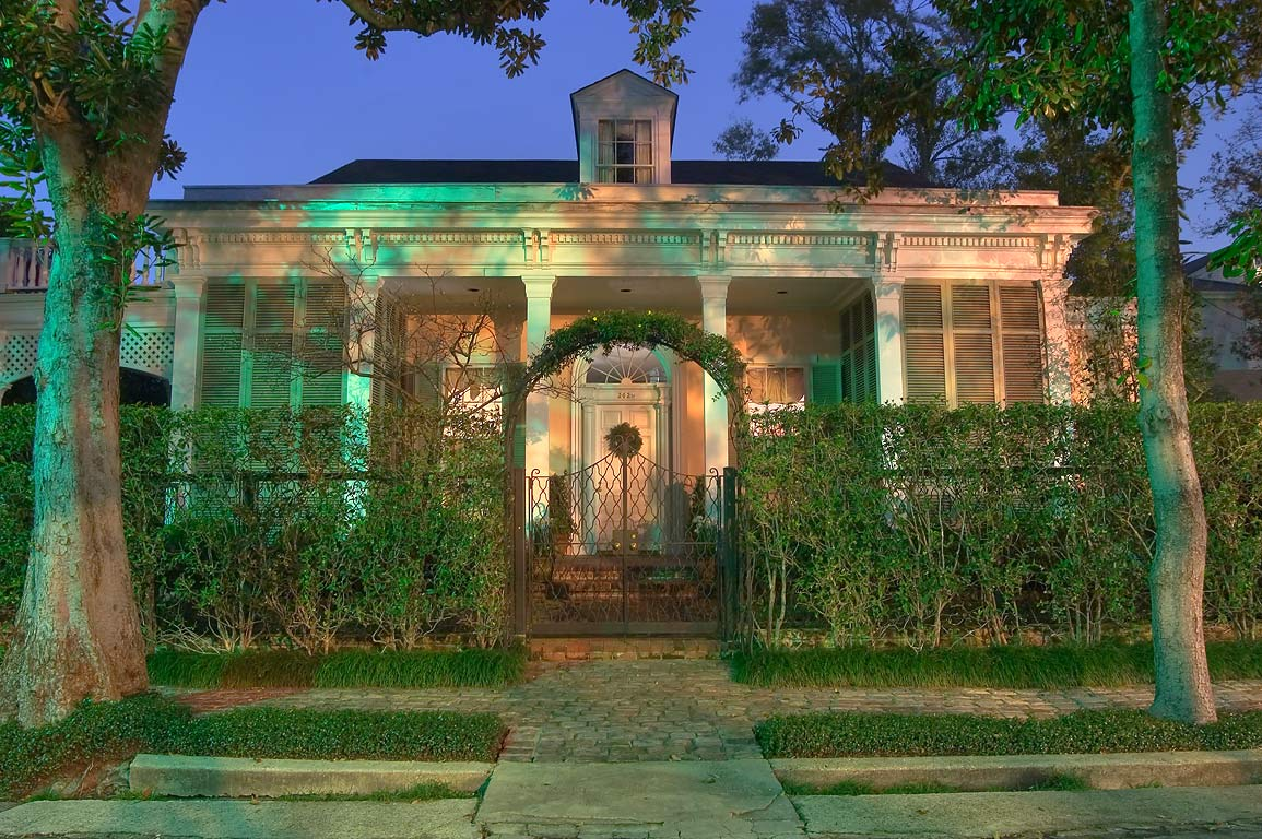 A house on Chestnut St. near Fourth St. at evening. New Orleans, Louisiana
