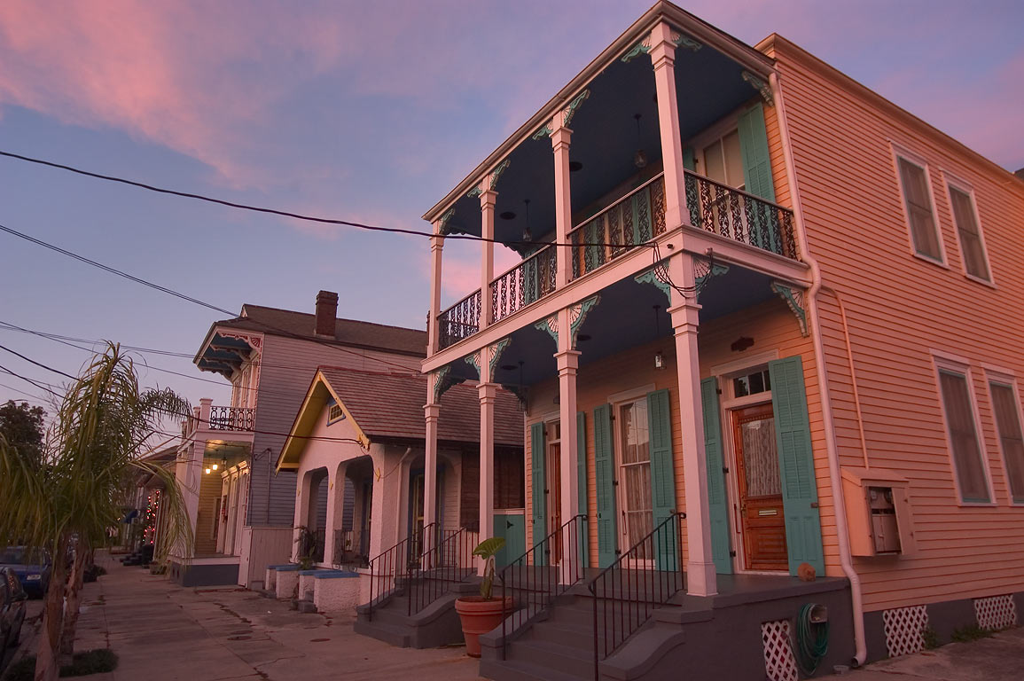 Near Spain St. in Faubourg Marigny. New Orleans, Louisiana