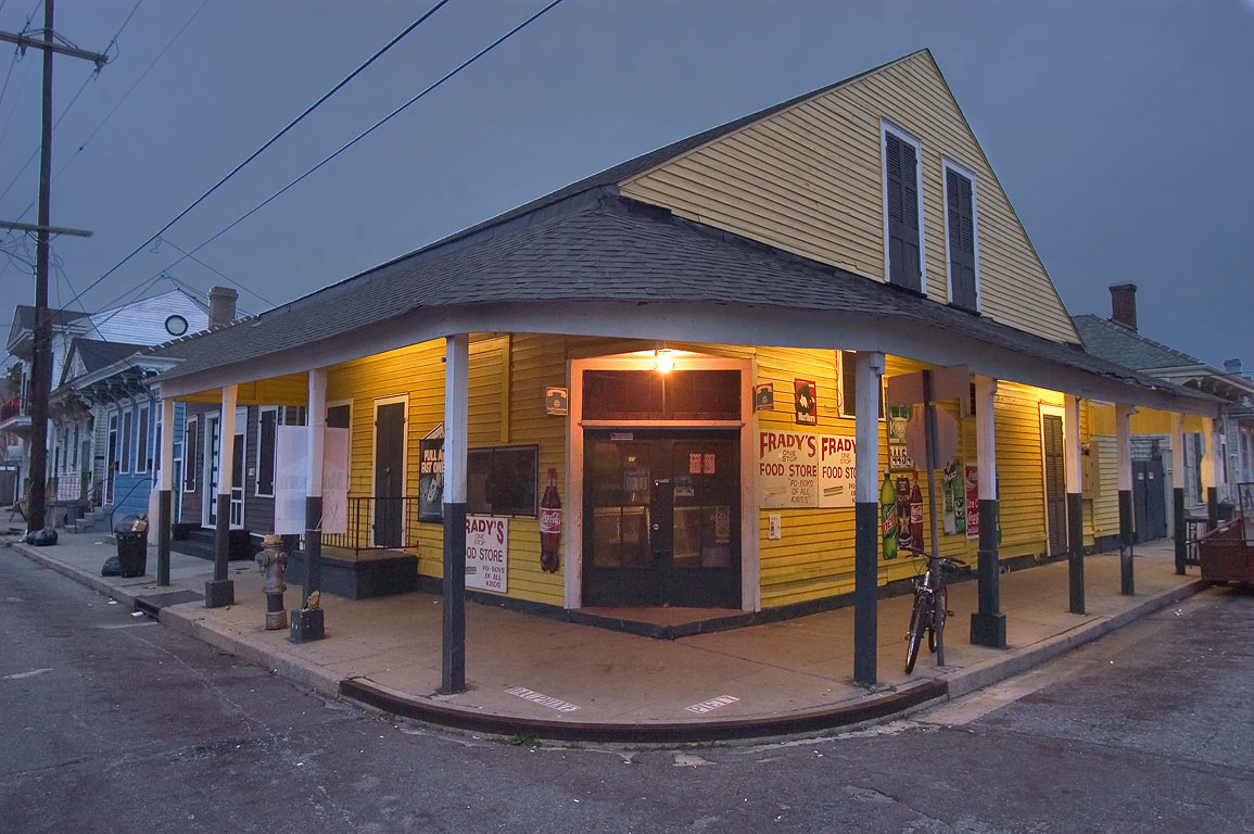 Frady's One Stop Food Store at 3231 Dauphine St...St. in Bywater. New Orleans, Louisiana