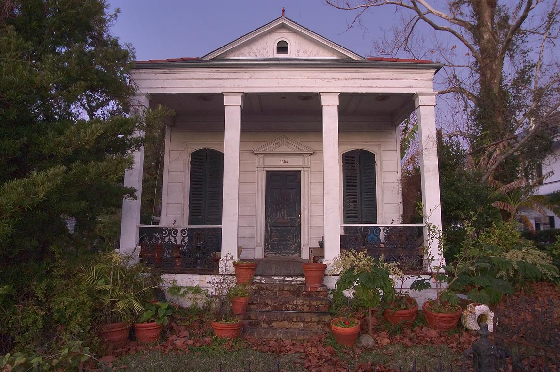 1354 East Moss St. in Bayou St.John neighborhood. New Orleans, Louisiana