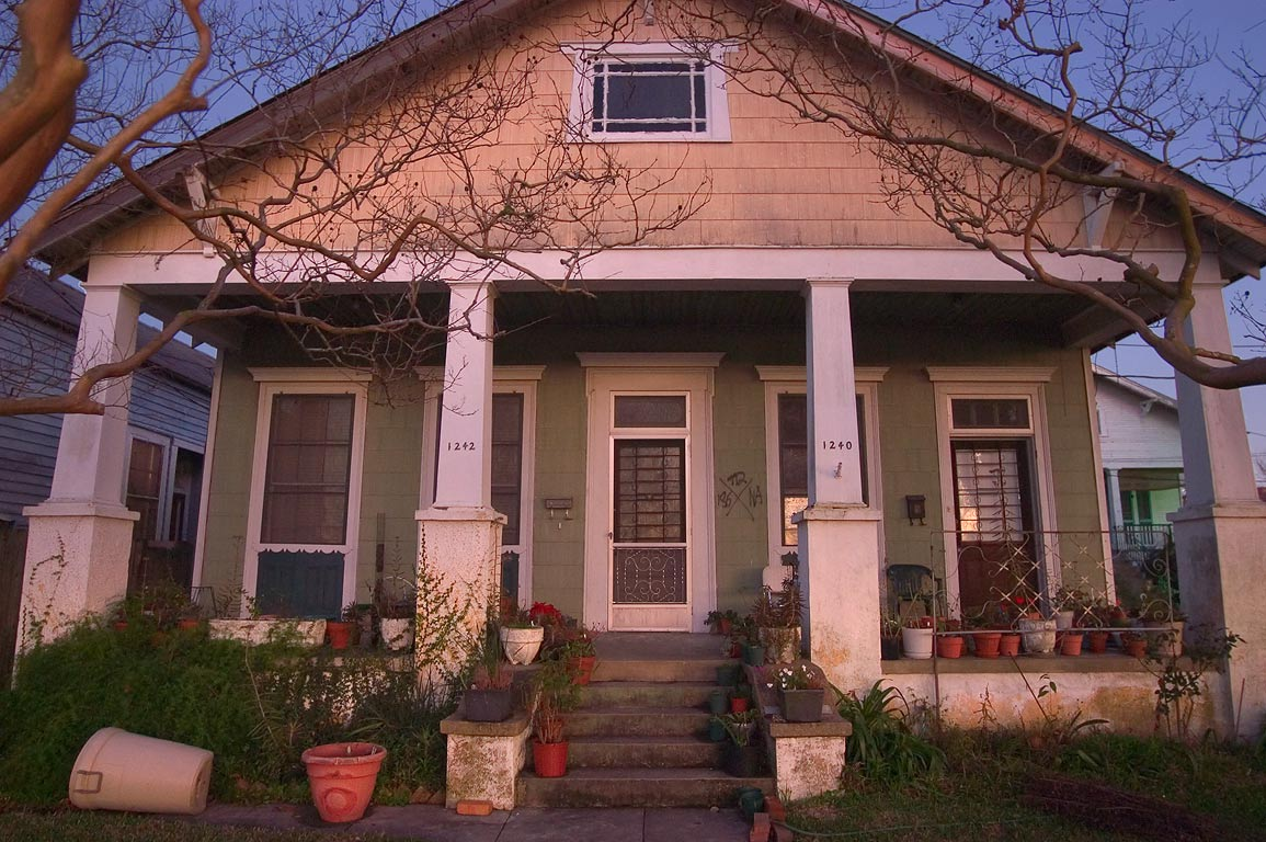 1240-1242 East Moss St. in Bayou St.John neighborhood. New Orleans, Louisiana