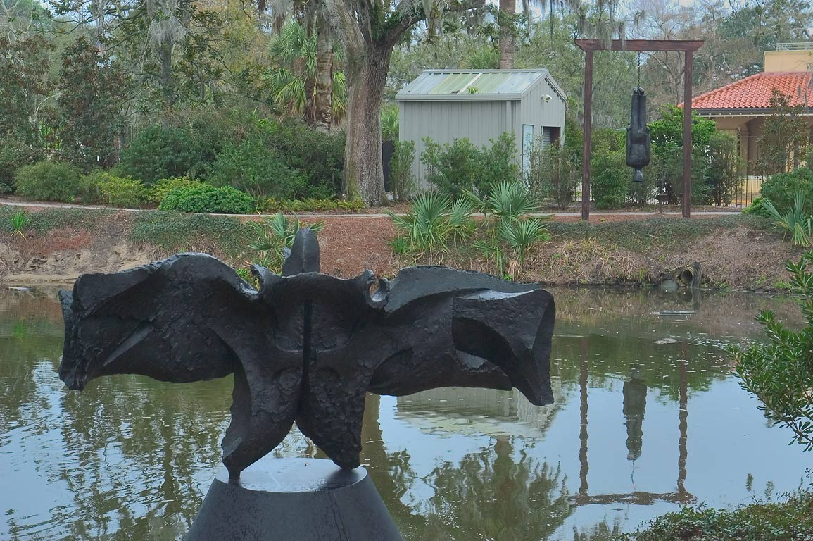 A pond in Sydney and Walda Besthoff Sculpture...in City Park. New Orleans, Louisiana