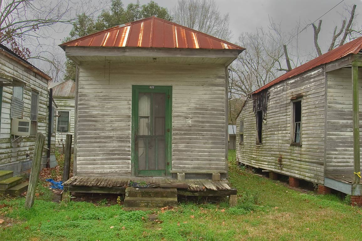 Cabins on Claiborn St., near Lessard St.. Donaldsonville, Louisiana