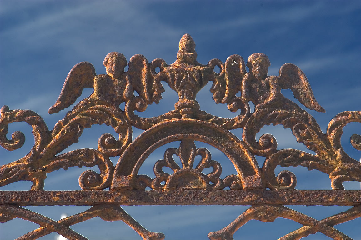 Iron fence in Greenwood Cemetery. New Orleans, Louisiana