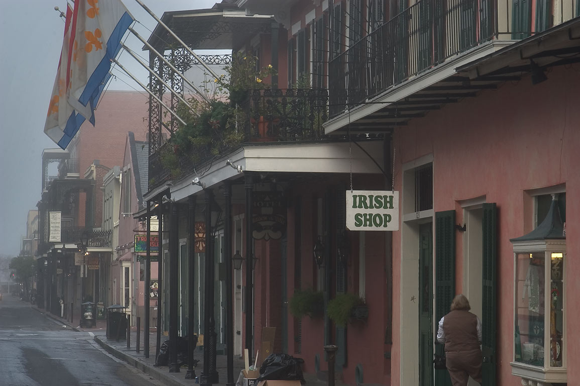 Chartrez Street in French Quarter in morning mist. New Orleans, Louisiana