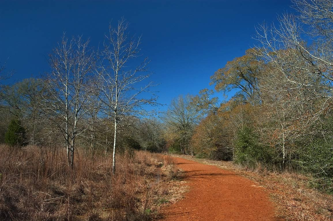 Deer Run Trail in Lick Creek Park. College Station, Texas