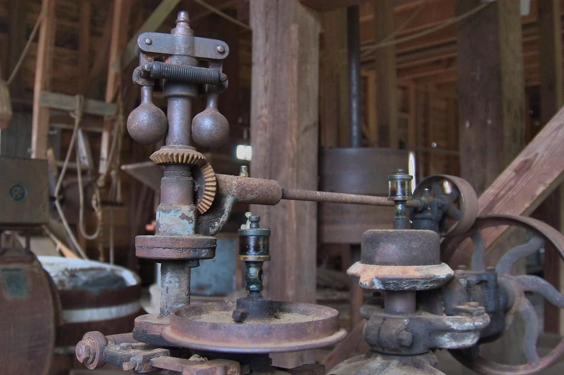 Mechanisms of a grist mill in Dunns Falls Park. Meridian, Mississippi