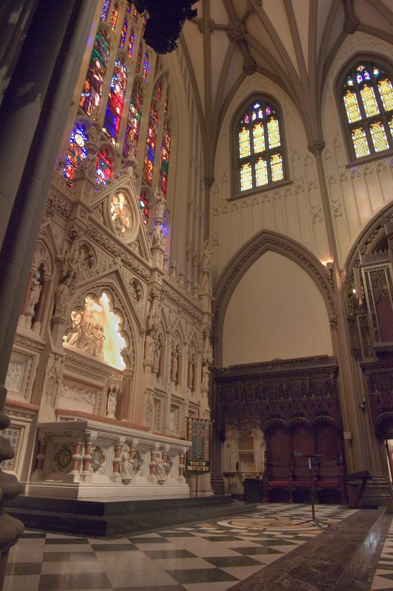 An altar of St.Patrick's Cathedral. New York City
