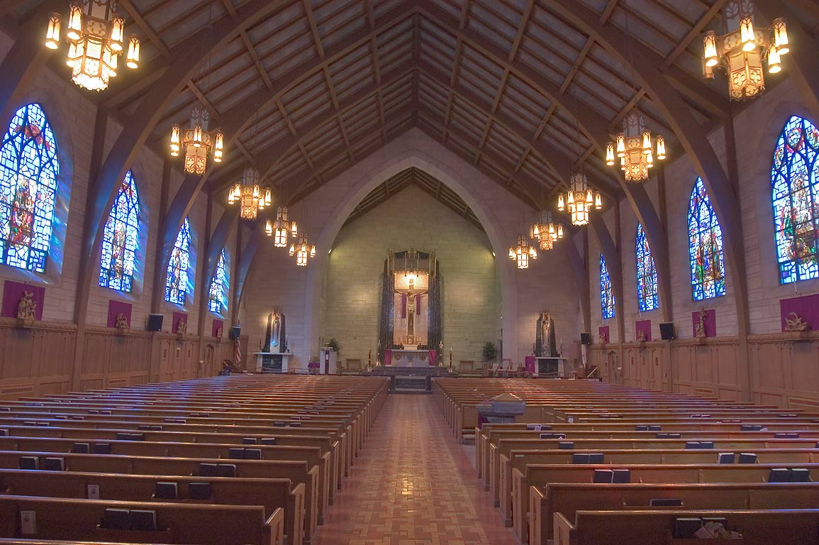 Interior of St.Paul's Catholic Church on Nassau St.. Princeton, New Jersey