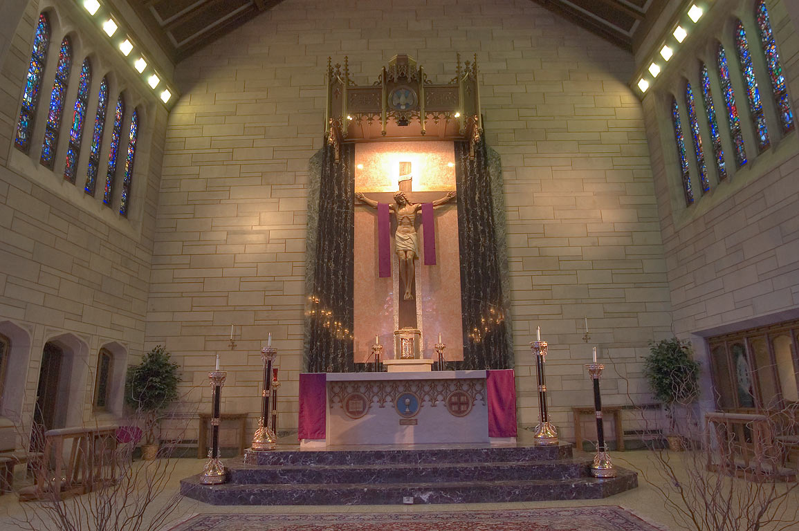 Altar of St.Paul's Catholic Church on Nassau St.. Princeton, New Jersey