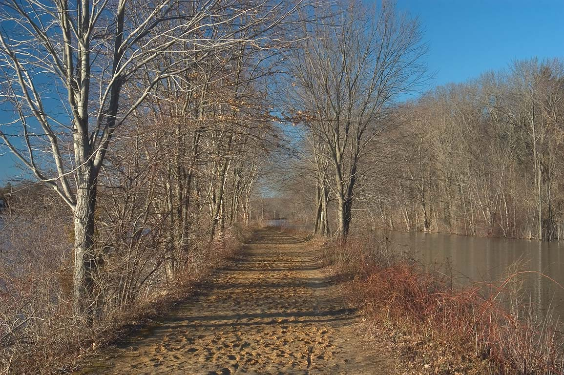 Delaware and Raritan Canal towpath near Lake...Washington Rd.. Princeton, New Jersey