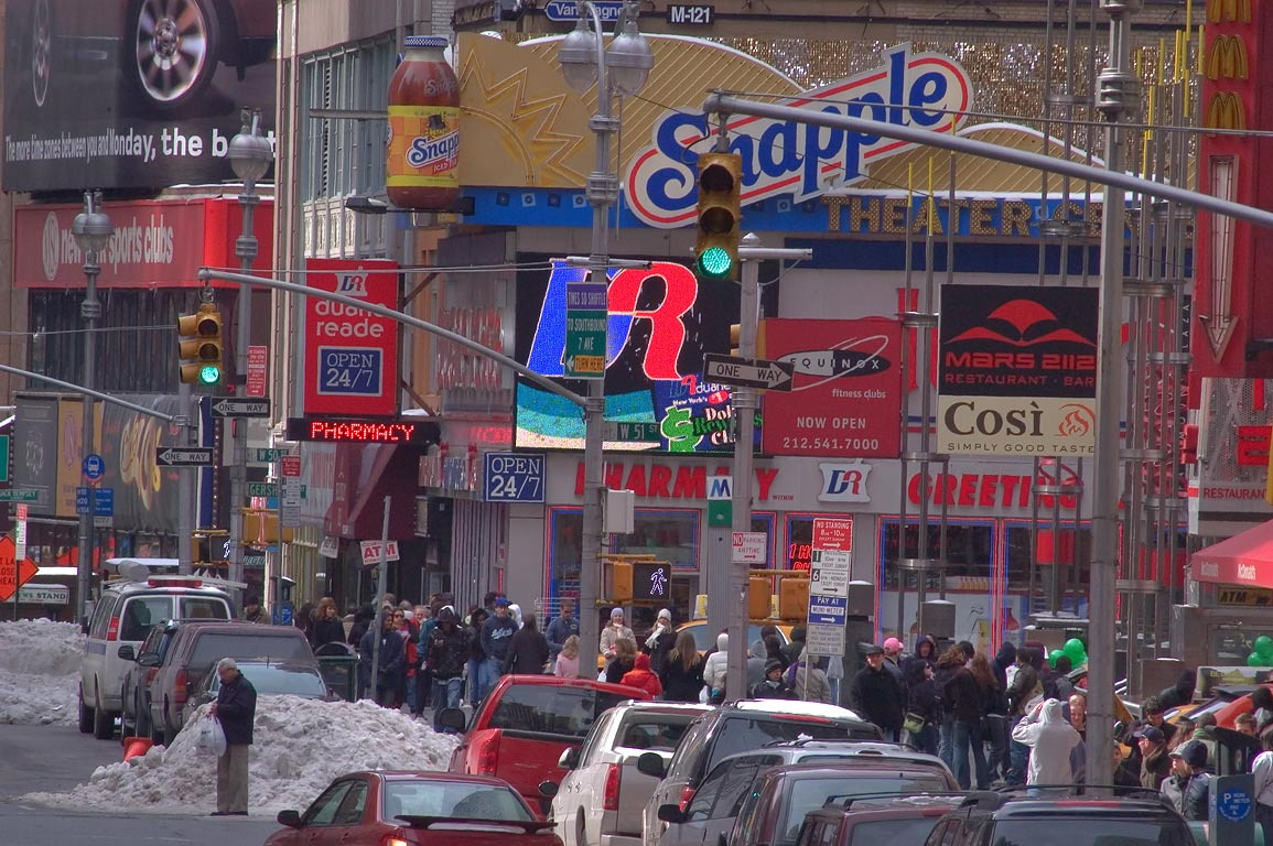 Broadway Ave. near 50th St.. New York City
