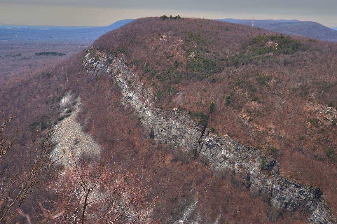 View of Mount Minsi from Mount Tammany. Delaware Water Gap, New Jersey