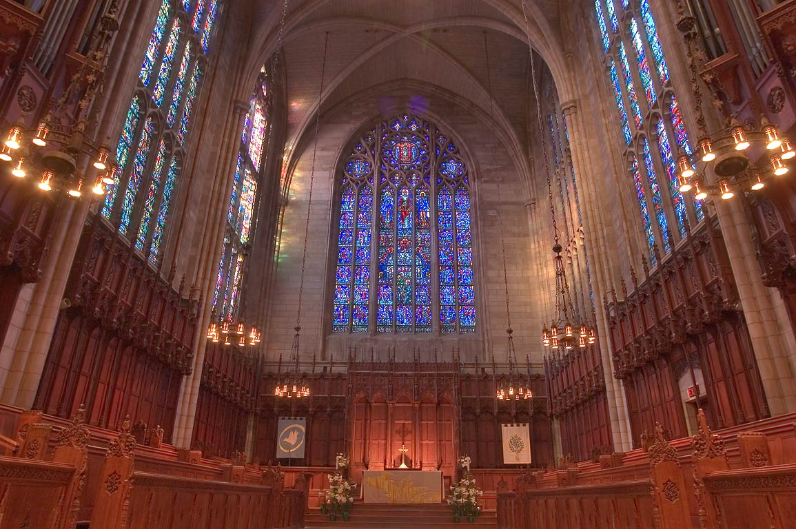 An altar of Princeton University Chapel. Princeton, New Jersey