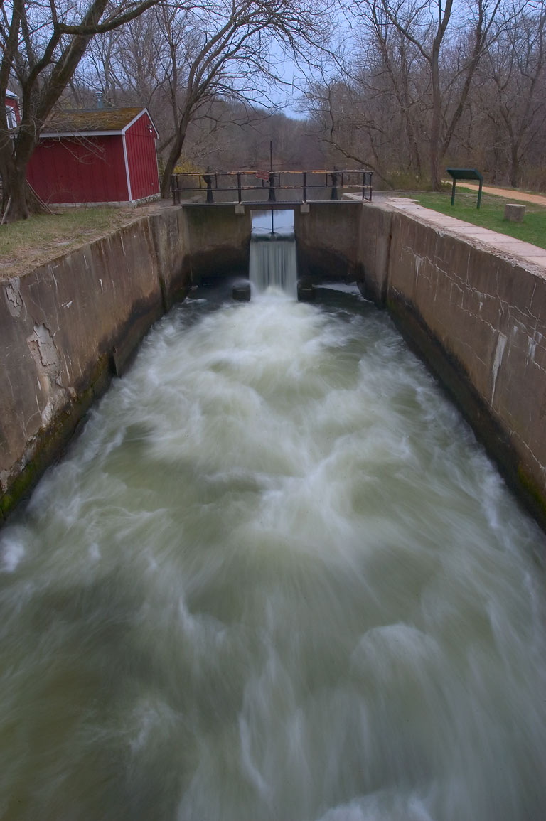 A lock of Millstone River south from Griggsown. New Jersey