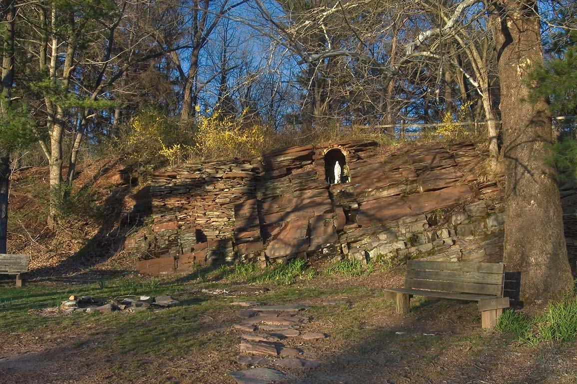 A grotto in Delaware and Raritan Canal State Park...Mapleton Rd.. Kingston, New Jersey