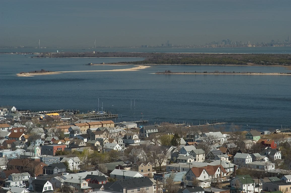 View of Sandy Hook Bay and Sandy Hook from Mount...Atlantic Highlands, New Jersey