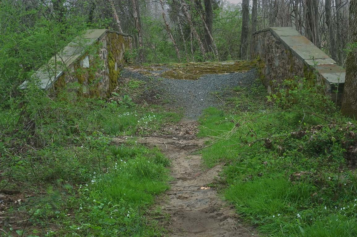 A stone bridge (1937) across Heathcote Brook in Cook Natural Area. Kingston, New Jersey