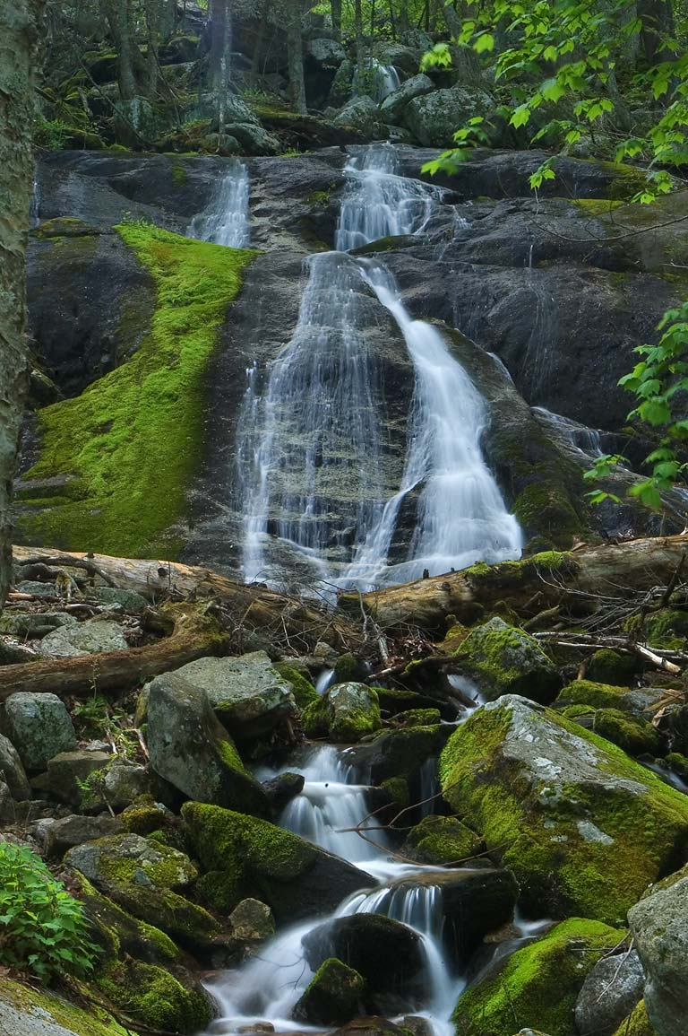 Falls near Old Lodging Railroad at Upper Otter...Ridge Parkway. Buena Vista, Virginia