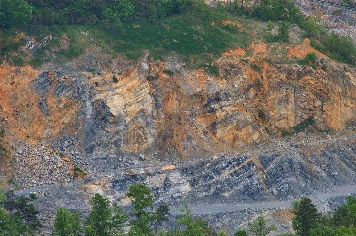 A Quarry from Blue Ridge Parkway. Roanoke, Virginia