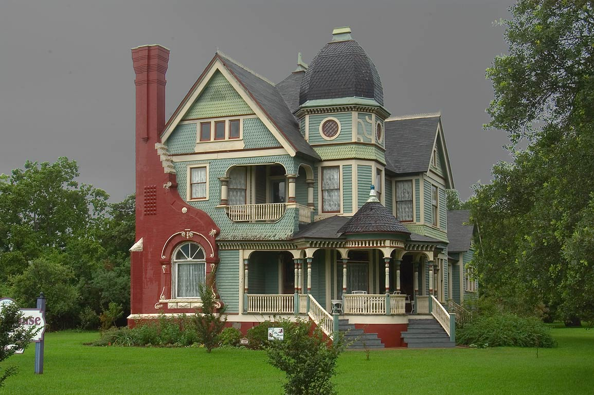 Jones House (Queen Anne style, 1897, now Parish...corner of Pin Oak St.. Calvert, Texas