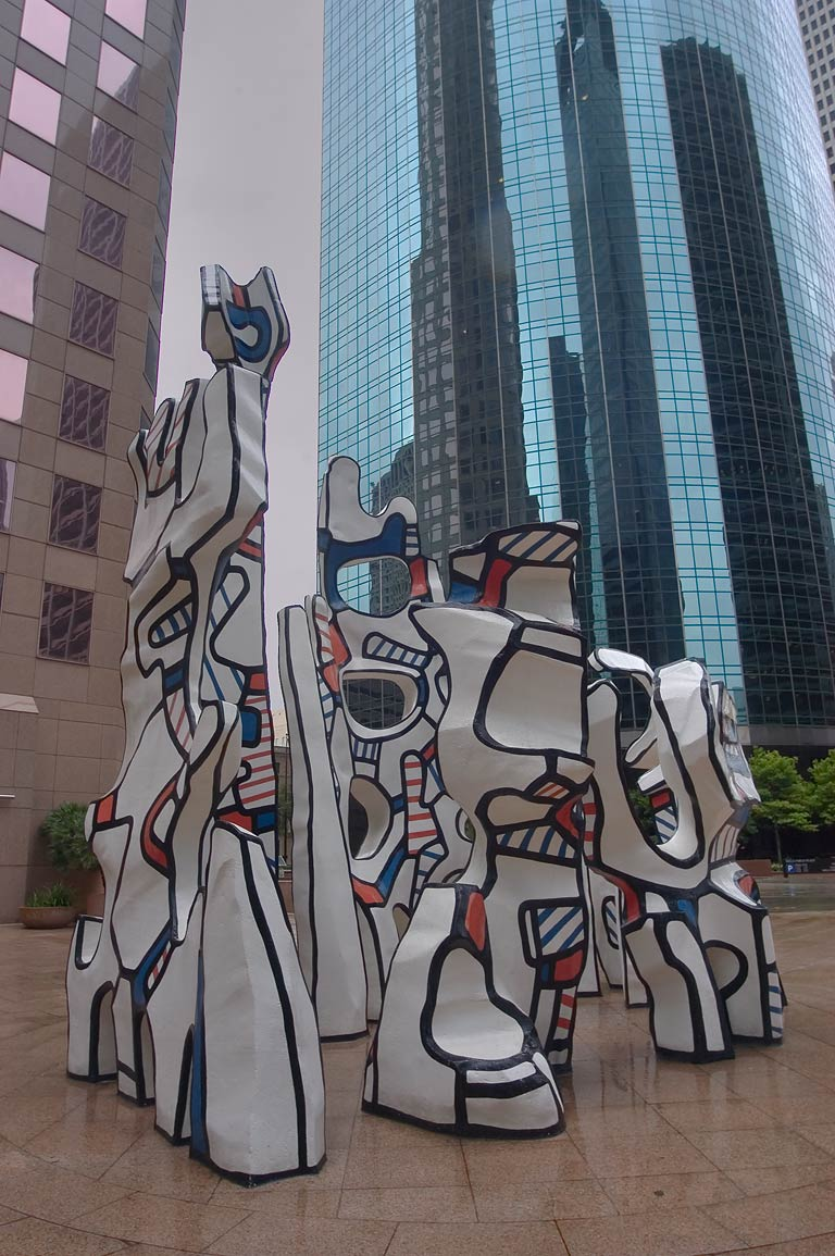 "Jean Dubuffet sculpture ""Monument to the Phantom...Building in downtown. Houston, Texas"