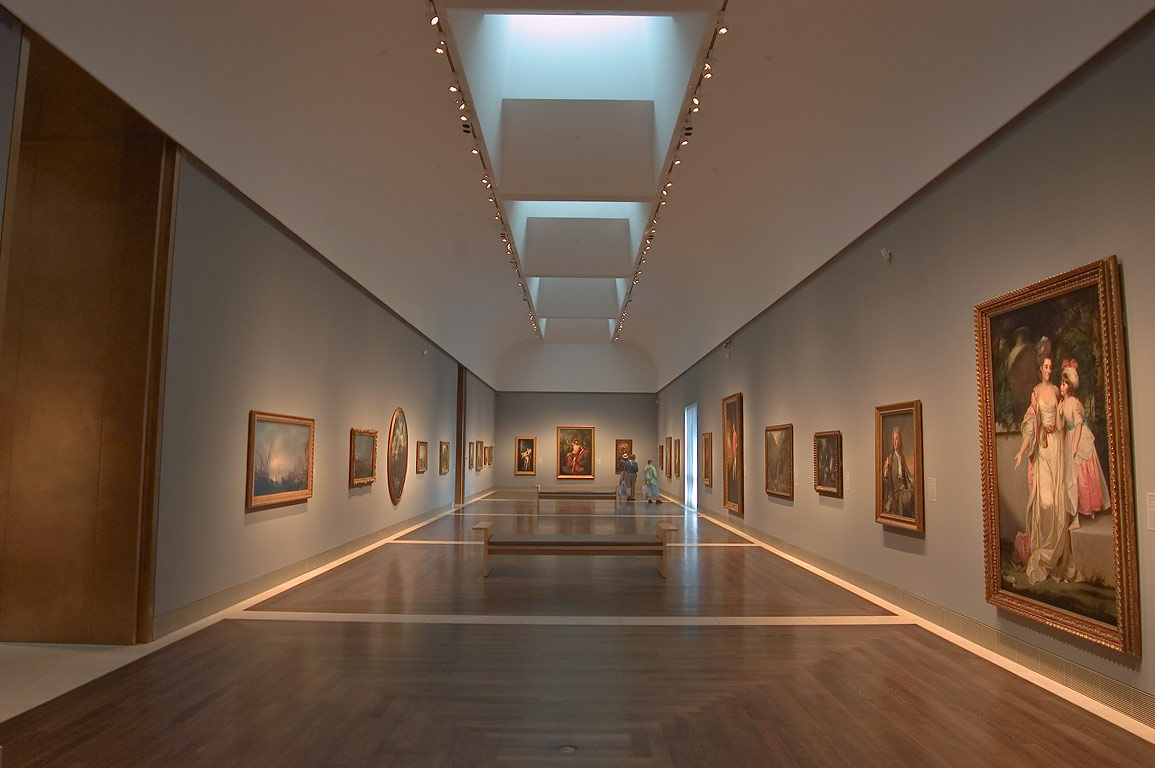 A hall in Museum of Fine Arts. Houston, Texas