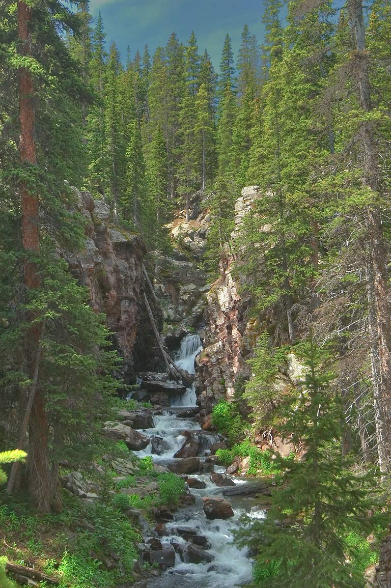 Macey Falls in Sangre de Cristo Mountains. Colorado